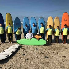 Students hang-ten on a 3-day surfing camp at Goolwa