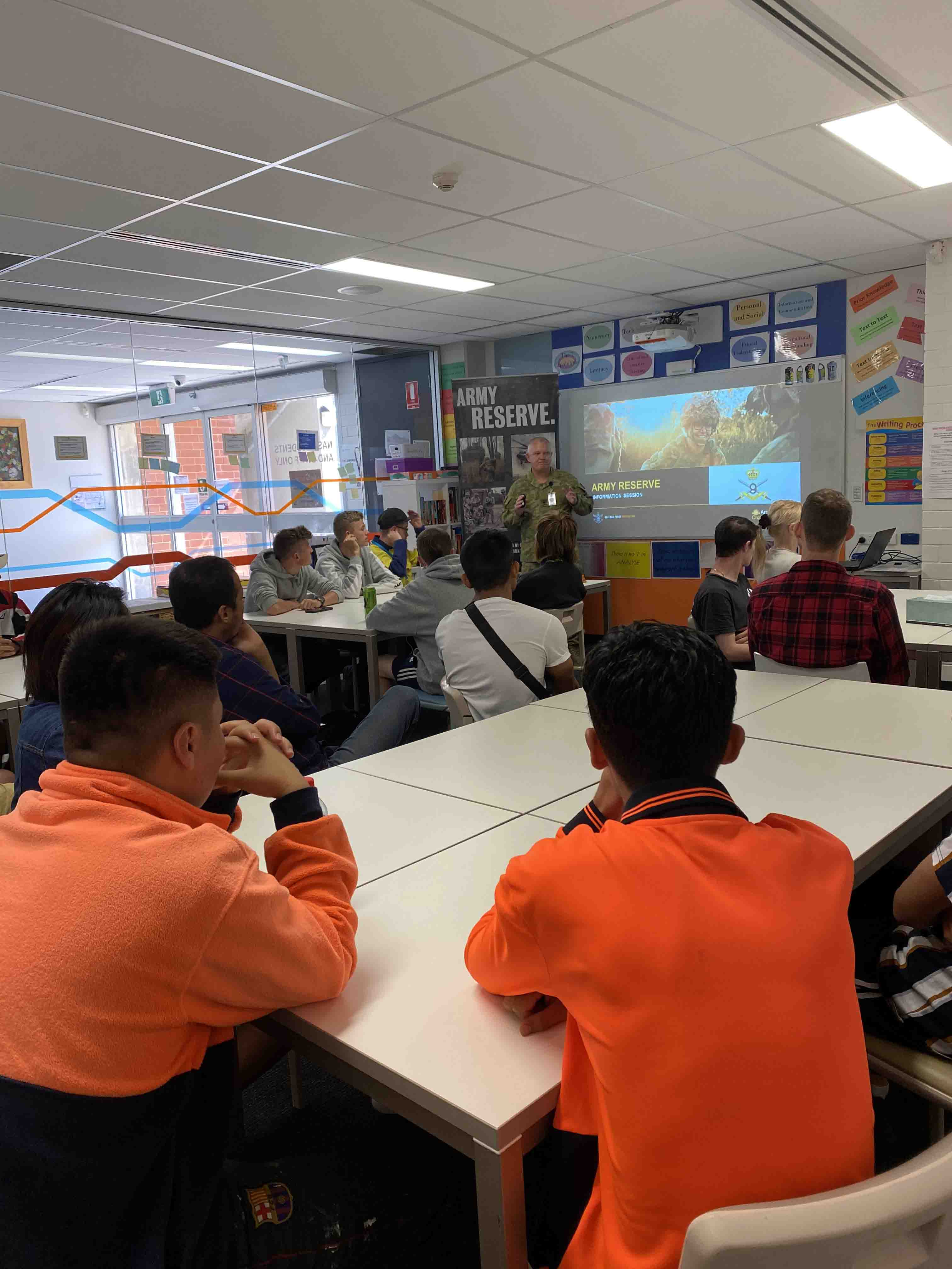 Army Reserves Guest Speaker at NASC