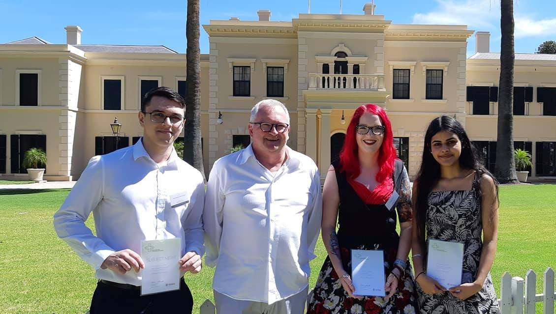 Essential maths students receive merit awards at government house